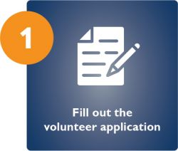 Fill out the Volunteer Application