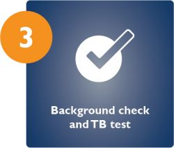 Background check and TB test